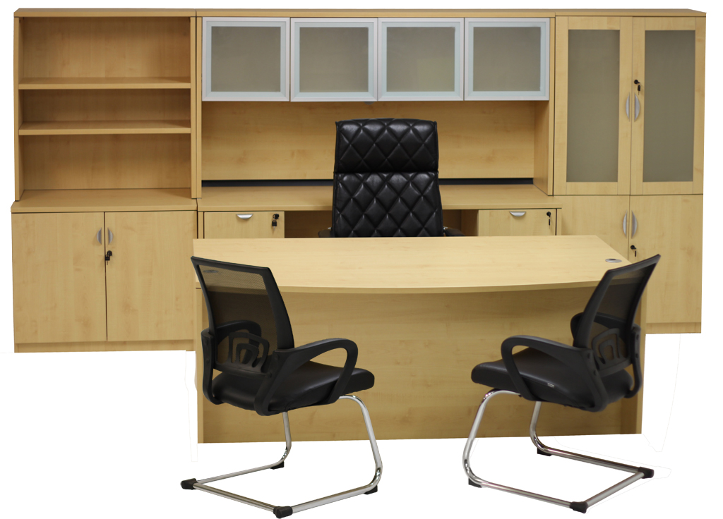 Maple Office Furniture 6-Piece Suite