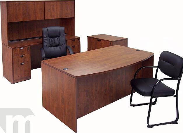 cherry laminate office furniture set-$1899- free shipping!