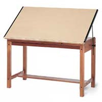 Professional Grade Solid Wood Post Drawing Table