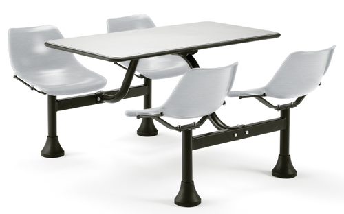 Breakroom Tables With Attached Chairs Images Furniture - Break room table and chair sets