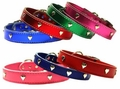 3/4 in wide Leather Heart Collars