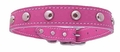 3/4 in Pink Leather Stud Dog Collars