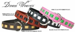 Dream Weavers Leather Collars 1 in wide
