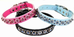 Fancy Filigree Rhinestone Collar  3/4 inch wide