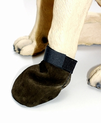 Suede Leather Mitten Style Dog Boots