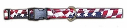 USA Stars And Stripes 3/4 Inch Wide Dog Collar
