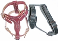 Leather Dog Harness With Studs size Small