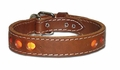 Inlaid Reflecto Dog Collar 1-1/4 Inches Wide