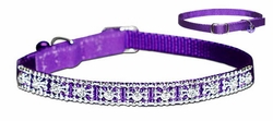 Jeweled Nylon Cat Collars