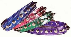 Metallic Leather Spike Collar For Small Dogs