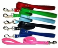 1/2 inch wide x 4 Ft Colored Leather Leash