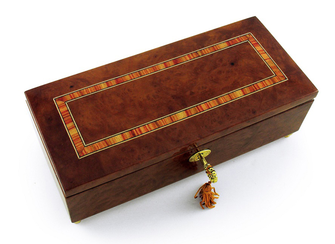 Buy lavish hand made classic style music jewelry box with for Jewelry box with key