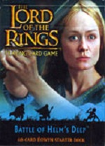 The Lord of the Rings BATLLE OF HELM'S DEEP EOWYN STARTER DECK containing 63 LOTR Cards