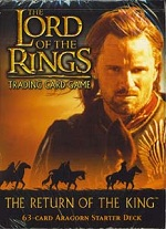 The Lord of the Rings RETURN OF THE KING ARAGORN STARTER DECK containing 63 LOTR Cards