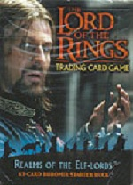 The Lord of the Rings REALMS OF THE ELF LORDS BOROMIR STARTER DECK containing 63 LOTR Cards