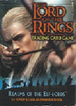The Lord of the Rings REALMS OF THE ELF LORDS LEGOLAS STARTER DECK containing 63 LOTR Cards