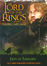 The Lord of the Rings ENTS OF FANGHORN FARAMIR STARTER DECK containing 63 LOTR Cards