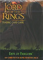 The Lord of the Rings ENTS OF FANGHORN WITCH-KING STARTER DECK containing 63 LOTR Cards