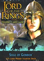 The Lord of the Rings SIEGE OF GONDOR MERRY STARTER DECK containing 63 LOTR Cards