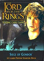 The Lord of the Rings SIEGE OF GONDOR PIPPIN STARTER DECK containing 63 LOTR Cards