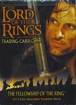 The Lord of the Rings FELLOWSHIP OF THE RINGS ARAGORN STARTER DECK containing 63 LOTR Cards