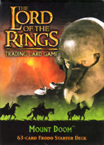 The Lord of the Rings MOUNT DOOM FRODO STARTER DECK containing 63 LOTR Cards