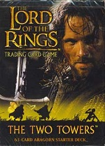 The Lord of the Rings THE TWO TOWERS ARAGORN STARTER DECK containing 63 LOTR Cards