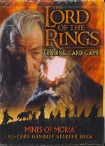 The Lord of the Rings MINES OF MORIA GANDALF STARTER DECK containing 63 LOTR Cards