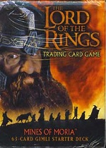 The Lord of the Rings MINES OF MORIA GIMLI STARTER DECK containing 63 LOTR Cards
