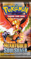 Pokemon HeartGold & SoulSilver Booster Pack containing 10 Pokemon Cards