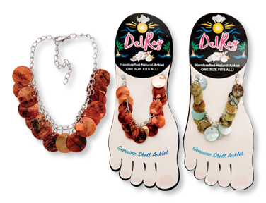 Del Ray DANGLING DISC SHELL ANKLET