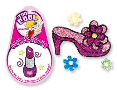 Too Cool GLITTER TATTOO Stickers! For CELL PHONEs, Skin, Books & More!