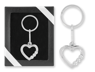 Crystal Heart Picture Frame Keychain Gift Boxed