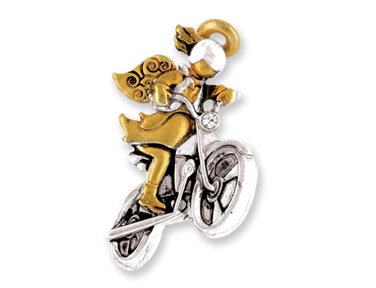 MOTORCYCLE Wings & Wishes ANGEL PIN