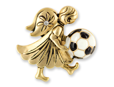 SOCCER Wings & Wishes Angel Pin