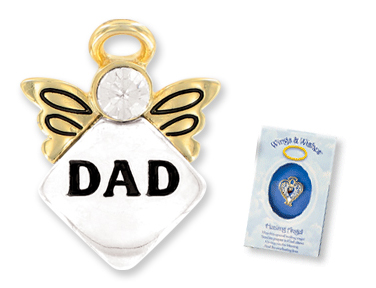 WATCH OVER MY DAD Wings & Wishes Angel Pin