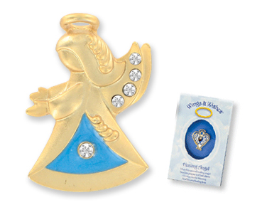 WATCH OVER MY MOM Wings & Wishes Angel Pin