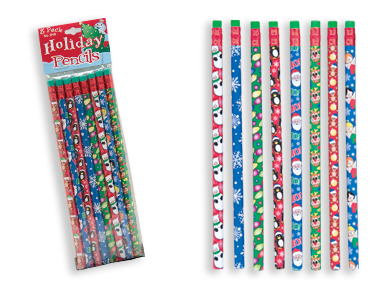 HOLIDAY Pencils 8 pack