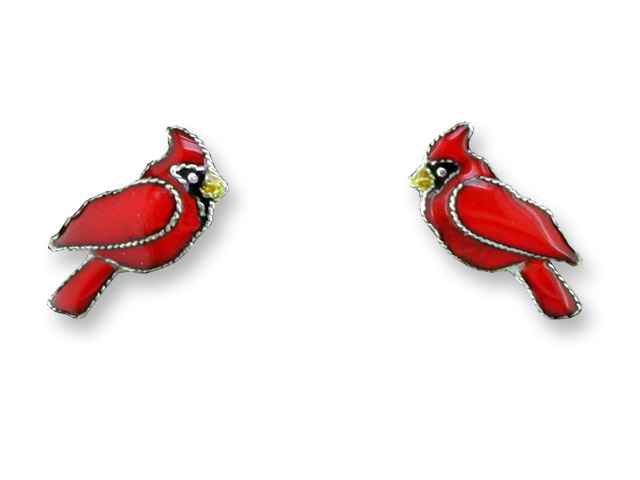 SOLD OUT - Red Cardinal Bird Post Earrings *RETIRED*