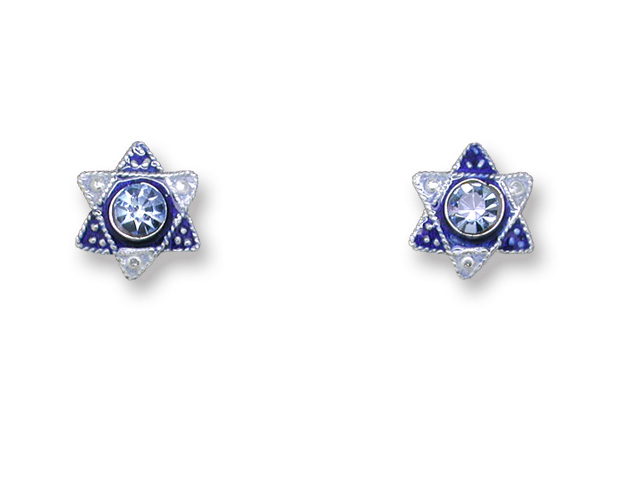 SOLD OUT - Crystal Star Of David Post Earrings *RETIRED*