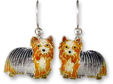 SOLD OUT - Yorkshire Terrier DANGLE Earrings by Zarah *RETIRED*