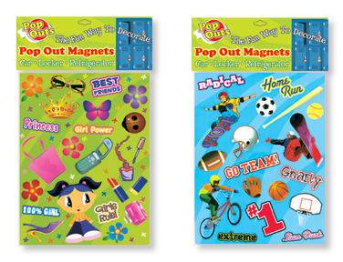 BOY & GIRL THEMED Pop Out Magnets