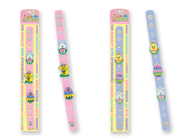 Zig-A-Roo's Rubber EASTER Bracelet w/ 3 Charms