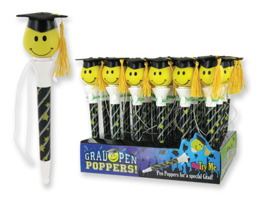 Graduation Happy Face Pen Popper