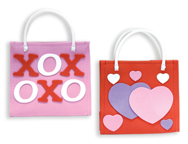 Valentine's Day Heart Themed Foam TOTE BAG