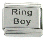 Laser RING BOY WEDDING Italian Charm
