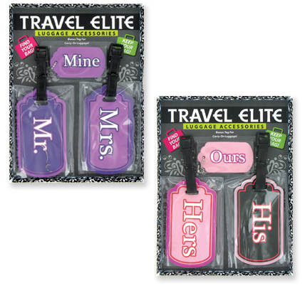 His & Hers LUGGAGE Tag Set
