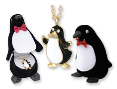 PENGUIN Crystal NECKLACE in Penguin Gift Box!