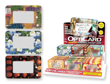 Majestic Collection Opti-Card WALLET Light Up Magnify Reader Card
