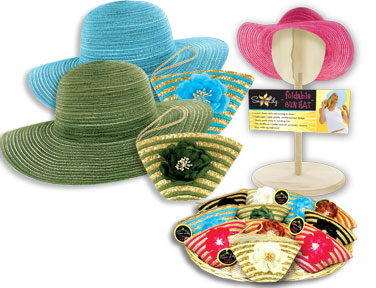 Sun Lily Foldable Sun HAT w/ Tote - 6 colors available